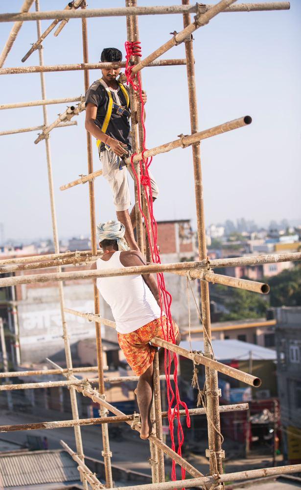 Stillas gjør mange byggeprosjekter mulige
